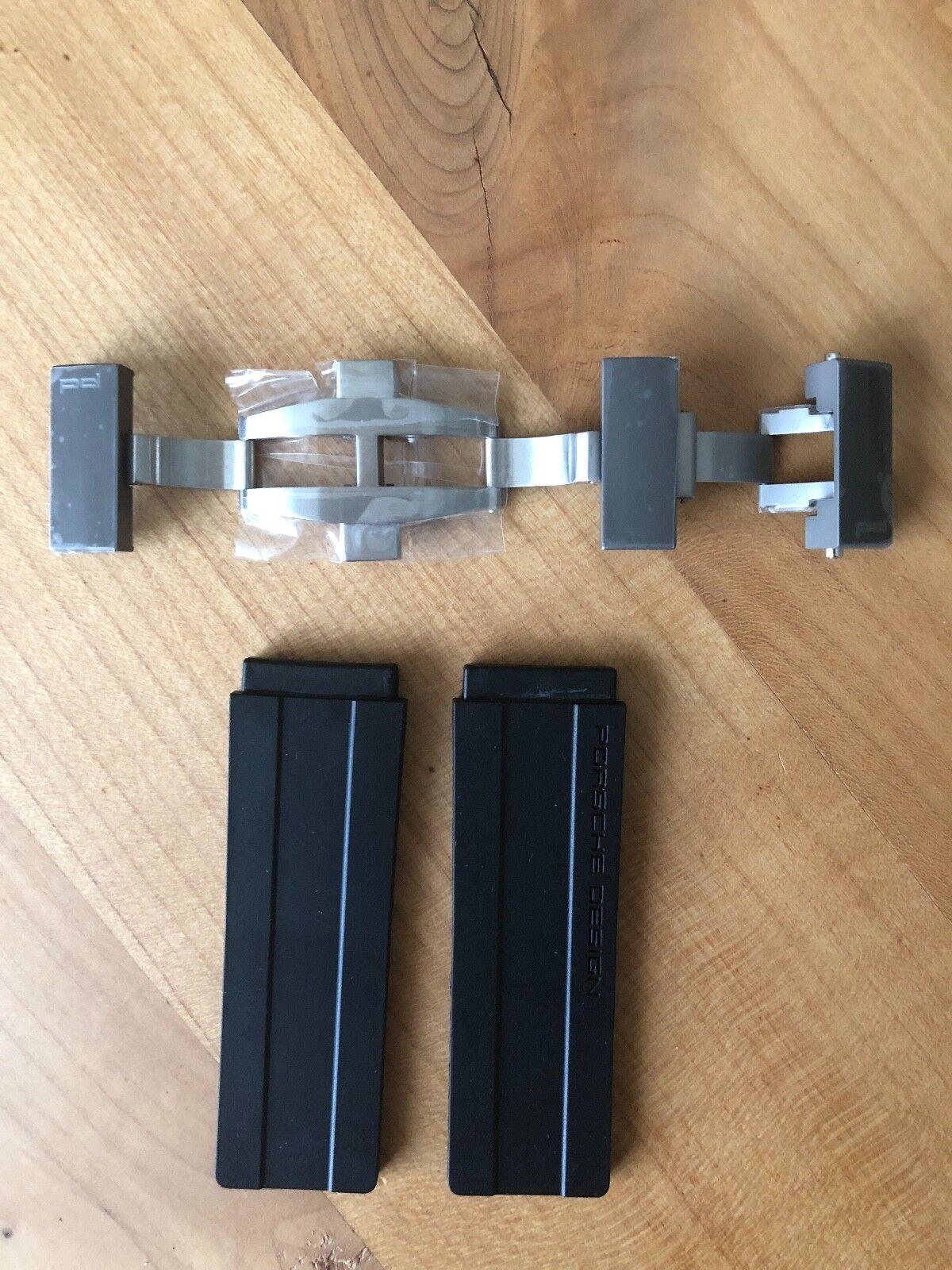 Porsche Design Kautschuk Armband mit Faltschließe für P6780 Diver, Original PD