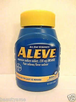 Aleve Naproxen Sodium 220 Mg 320 Caplets  Pain Reliever  Fever Reducer