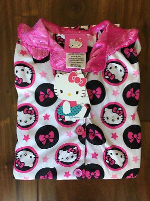 Hello Kitty Girls Button Front Sleep Shirt and Pants Pajamas2-Piece Set Size ](Hello Kitty Girls Pajamas)
