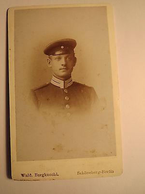 Schöneberg Berlin - 1894 - Johannes Guse ? Gux ? als Soldat in Uniform / CDV