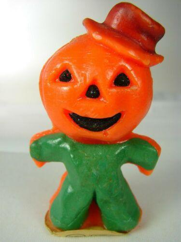 Vintage Gurley Halloween Jack-O-Lantern Scarecrow #6 - Great w Label, No Wick
