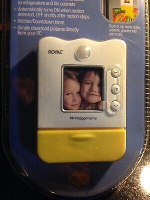 Royal Digital Photo Frame, Timer & Clip Refrigerator Magnet Motion Activated NEW Digital Picture Frame Timer