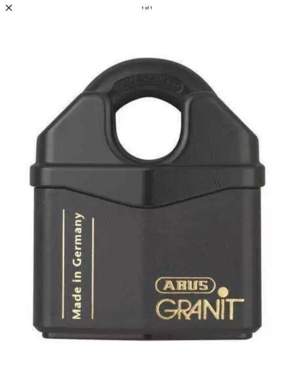 🔐  ABUS Keyed Padlock - Granit| 37RK/80 37/80 Lighted Key Ultimate Security NIB