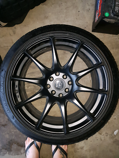 "17"" Hussla Rims+ tires 4stud multifit"