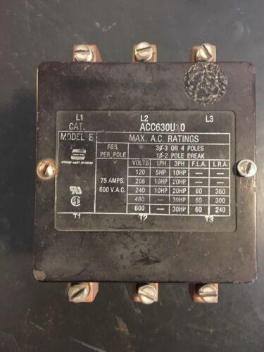 ACC630U10  Arrow Hart Contactor 24VAC Coil