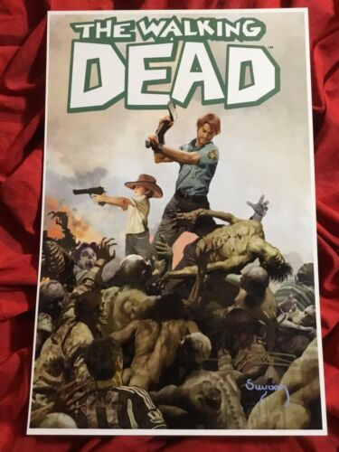 THE WALKING DEAD LIMITED EDITION COVER ART PRINT~SIGNED BY ARTHUR SUYDAM~