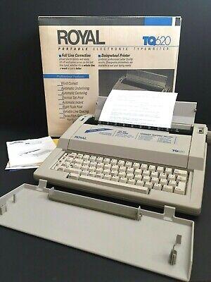 Working Vintage Ta Royal Tq620 Portable Electronic Typewriter Daisywheel Printer