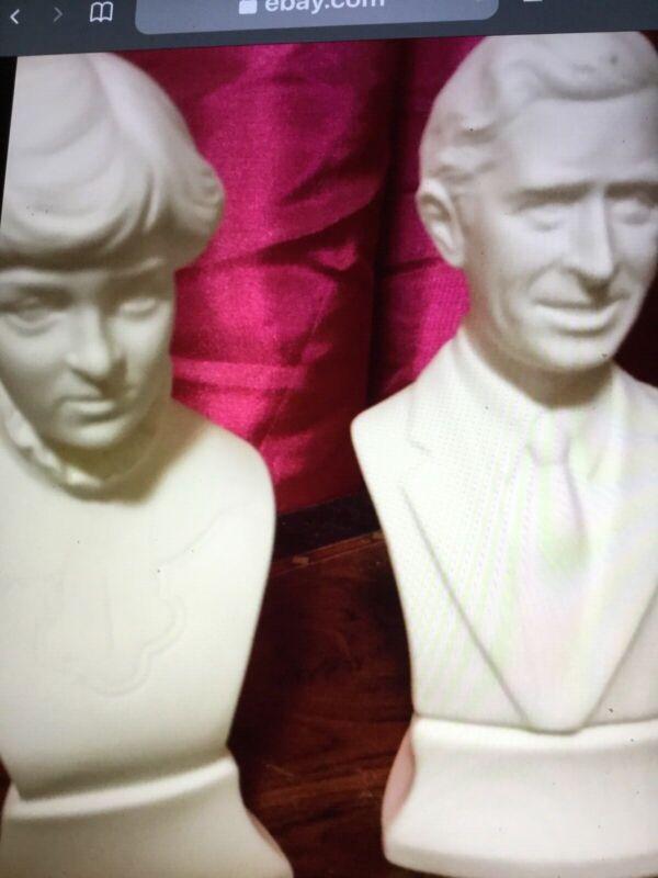 Rare Vintage Princess Diana and Prince Charles busts..figurines