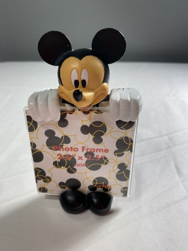 """WDW Disney Mickey Mouse Photo Picture Frame Refrigerator Magnet 2.5"""" x 2.5"""""""