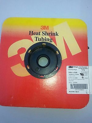 3m Fp301 34 Inch Heat Shrink Tubing 50 Foot Roll Blacknoir