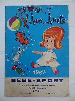 Ancien catalogue Jeu et Jouet Bébé sport 1962 Lyon Tri-ang Heller LEGO Scaletrix
