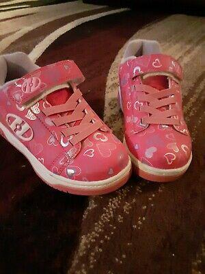Heelys girls Pink Hearts Size 2