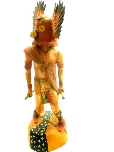 """Wonderful  Hopi Owl Kachina Signed Ernie 18"""""""