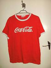 Coca Cola Branded Men's Shirt Coke T-Shirt Top in Red