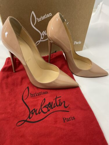 Authentic Christian Louboutin So Kate Nude Patent Leather, Size 39