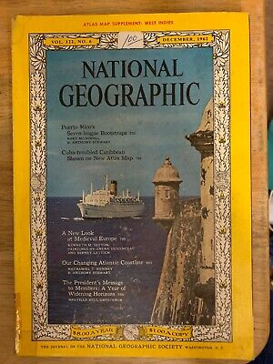 National Geographic December 1962 No Map! Coke Ad,Puerto RICO,Medieval Europe