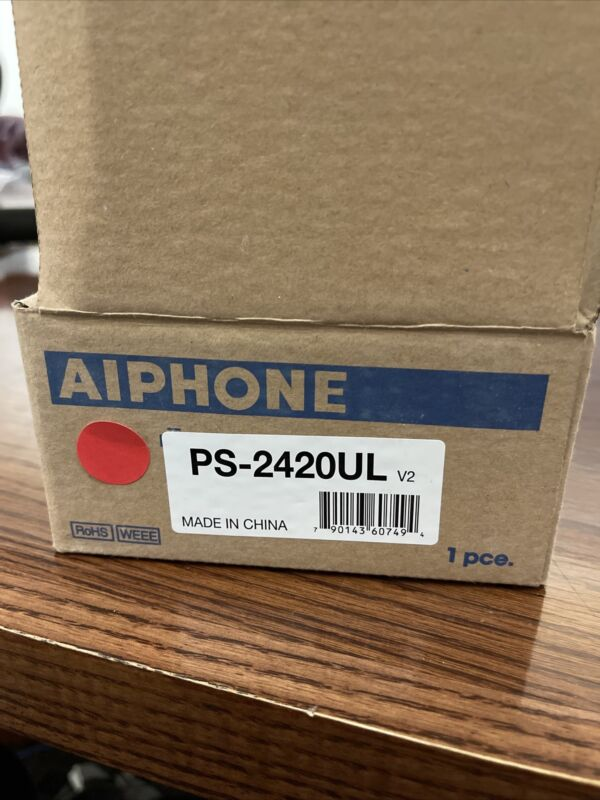 AIPhone Dc Power Supply For Intercom PS-2420UL Brand New in Box