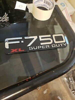 FNEW FORD F-750 XL SUPER DUTY FENDER EMBLEM