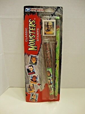 USPS Classic Monster Stamps Collectible Pen,Pencil & Eraser The Mummy