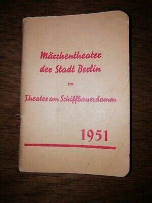 Märchentheater der Stadt Berlin. 1951, im Theater am Schiffbauerdamm