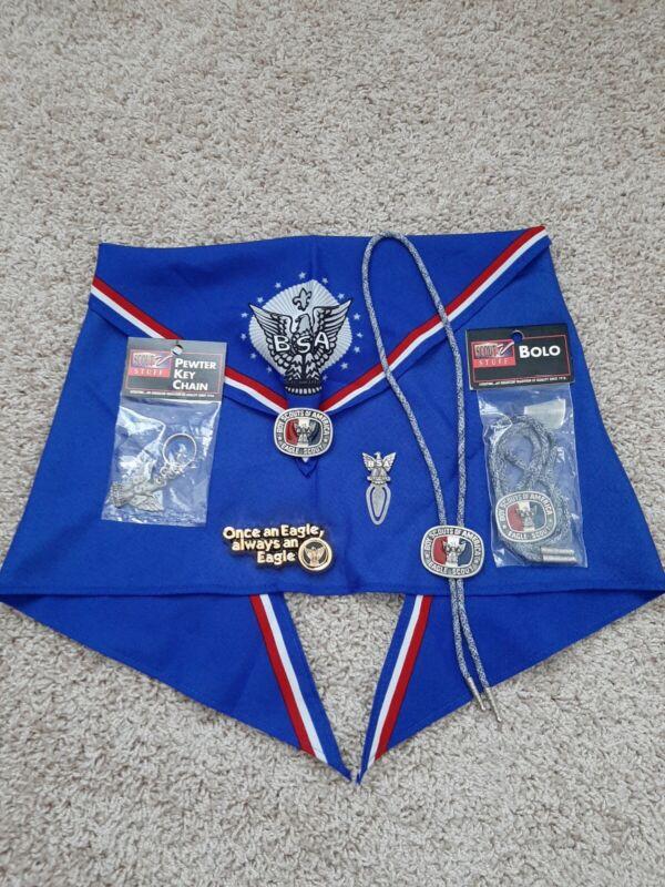 Boy Scouts BSA LOT Eagle Scout Association BOLO TIES NECKERCHEIF PAPER WEIGHT KC
