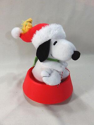 Hallmark Christmas Animated Snoopy + Woodstock Dog Bowl Sled 2012 Musical