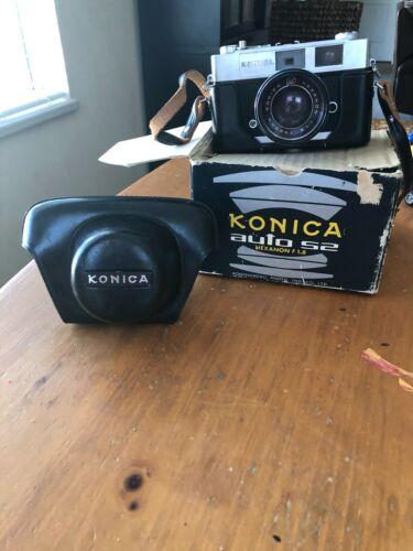 Konica auto S2 Hexanon F 1.8 Camera With Leather Case