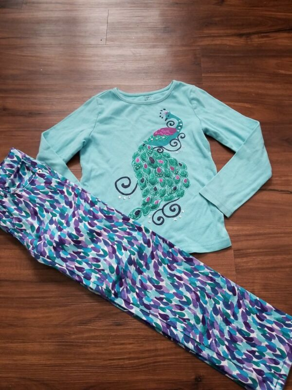 GYMBOREE RARE OUTFIT TOP 8 BOTTOM 7 TURQUOISE