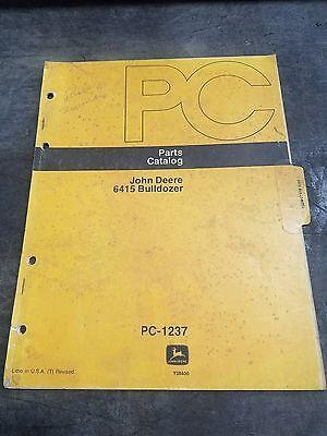 John Deere Pc-1237 Bulldozer 6415 Parts Catalog Manual