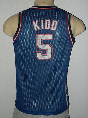 Nike Sewn Jason Kidd #5 New Jersey Nets Swingman NBA Jersey Youth Large