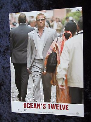 Ocean's Twelve lobby cards/stills - Brad Pitt, George Clooney - German set of 10
