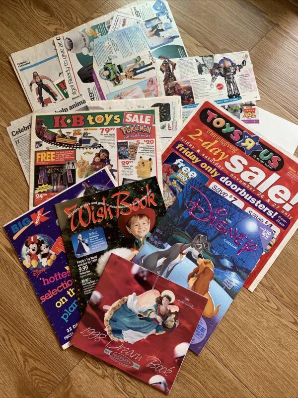 Vintage Toy Advertisements Wish Book Disney K B Toys K Mart