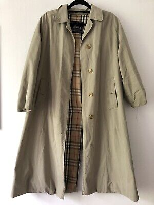 Vintage Burberry Trench Coat Unisex Mac Size Medium
