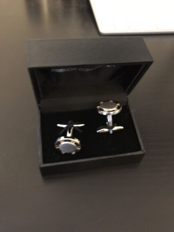 French+Connection+-+Roundel+Cufflinks+-+BNWT