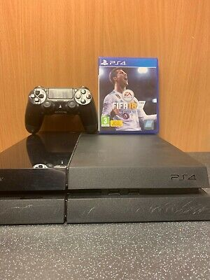 (NE6) Sony Playstation 4 Console And Fifa 18 Game PS4