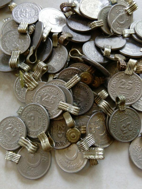 100 Extra Small XS Vintage Kuchi Tribal Coins SIMILAR Style