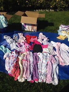 Lots de vêtements fille 0-9mois