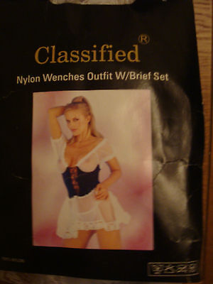 Classified .. wenches outfit/brief set bn in bag stocking filler  size large