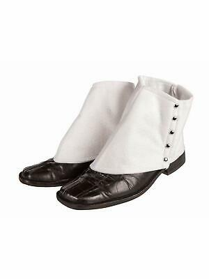 Forum Novelties Roaring 20's Gangster Spats Costume Accessory, White, One Size
