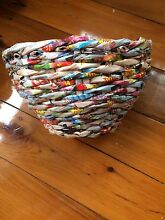 Woven magazine basket bowl Windsor Hawkesbury Area Preview
