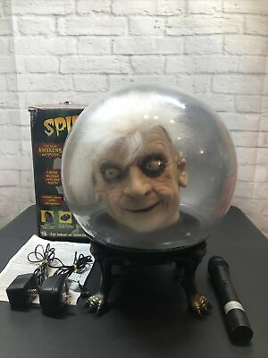 "Gemmy 14"" Spirit Ball Prop Animated Mr. Shivers Adapter Microphone Halloween"