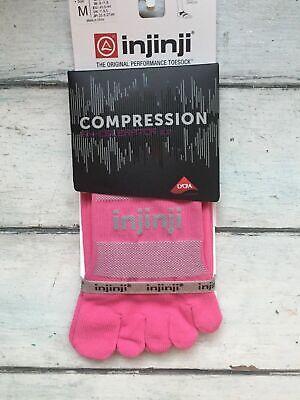 Injinji Men/'s Compression Socks XL Ex-Celerator White Over the Calf CoolMax