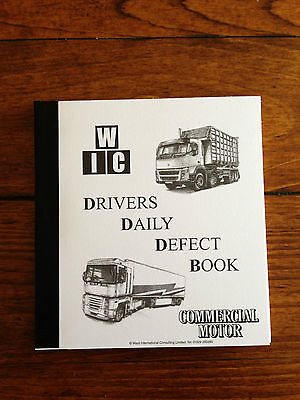 DRIVERS DAILY DEFECT BOOK FOR HGV,  40 TRIPLICATE, NUMBERED SHEETS