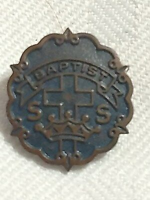 VTG Lapel Hat Pin Attendance Religious Baptist Sunday School Award by Uncas (Baptist Medal Pin)