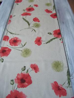 Impressionen Roter Mohn (Tischläufer Erntezeit ca. 170x40 cm Impressionen Mohnblume Wiesenblume Wildblume)