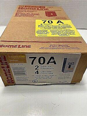 Square D 70 Amp Load Center Circuit Breaker Box -indoor Hom24l70rscp New In Bx