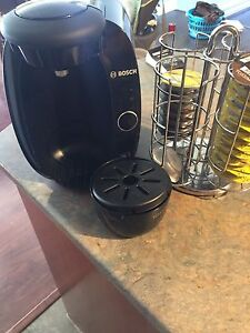 Tassimo coffee maker and holder