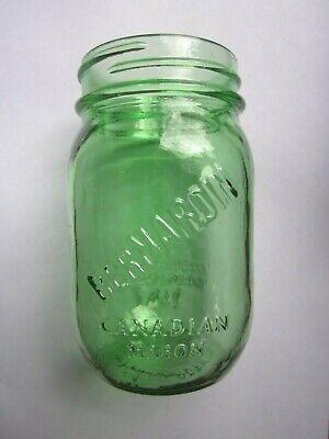 Bernardin Green Glass PINT Mason Jar  Green Glass Jar
