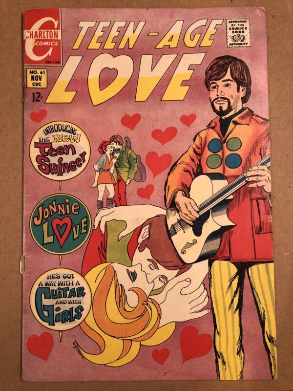 TEEN AGE LOVE #61 COMIC GREAT COVER ART CHARLTON COMICS JONNIE LOVE