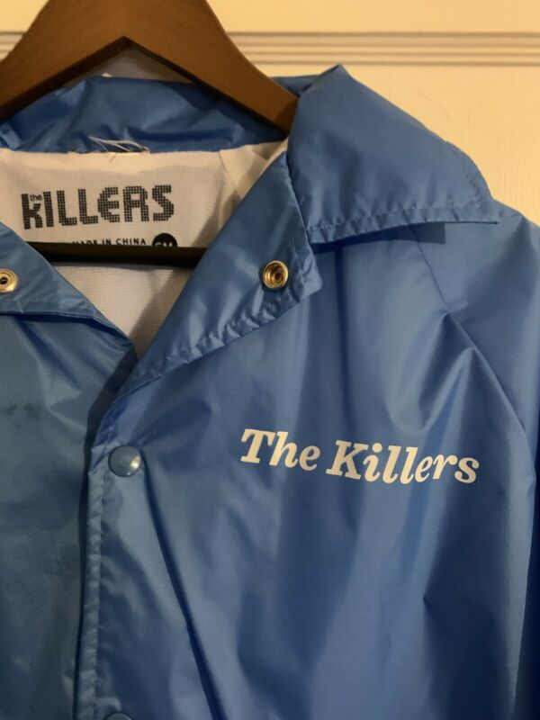 The Killers Brandon Flowers Blue Small Nylon Jacket Rare